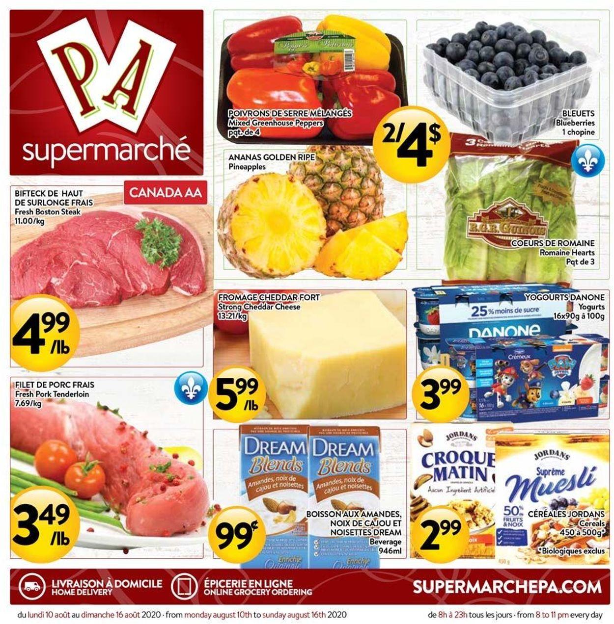 PA Supermarché Flyer - 08/10-08/16/2020