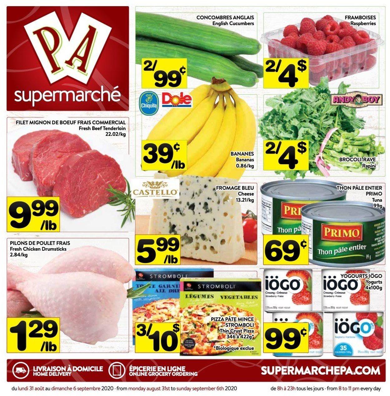 PA Supermarché Flyer - 08/31-09/06/2020