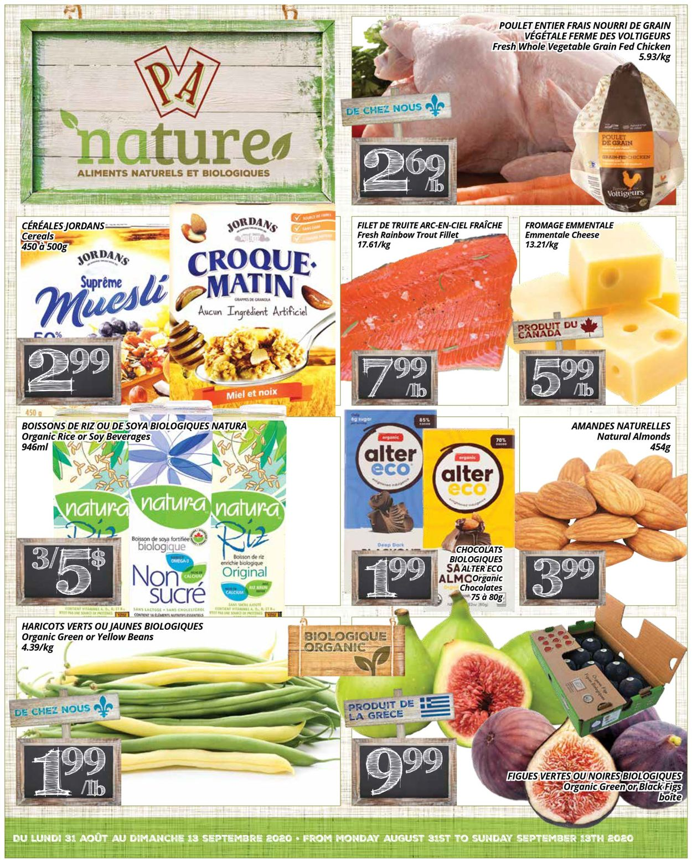 PA Supermarché Flyer - 08/31-09/13/2020
