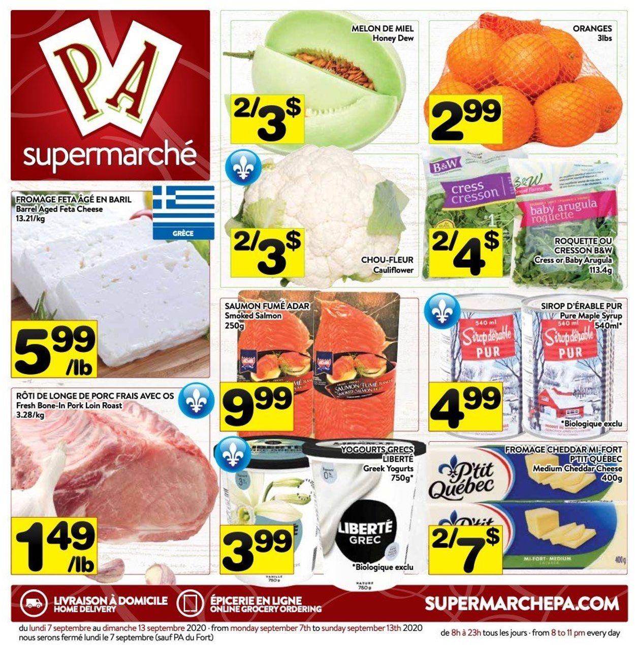 PA Supermarché Flyer - 09/07-09/13/2020