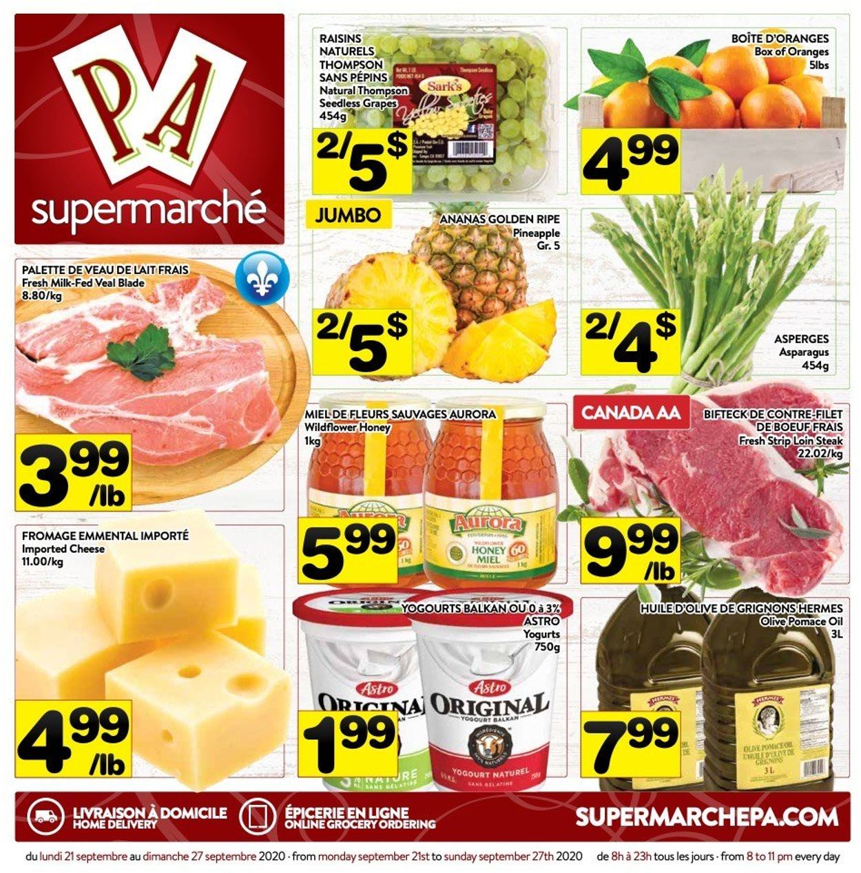 PA Supermarché Flyer - 09/21-09/27/2020