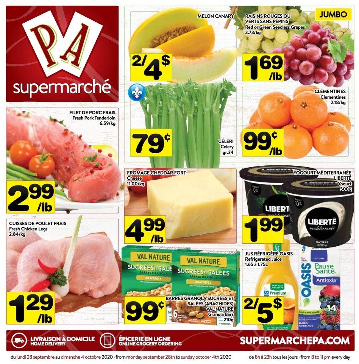 PA Supermarché Flyer - 09/28-10/04/2020