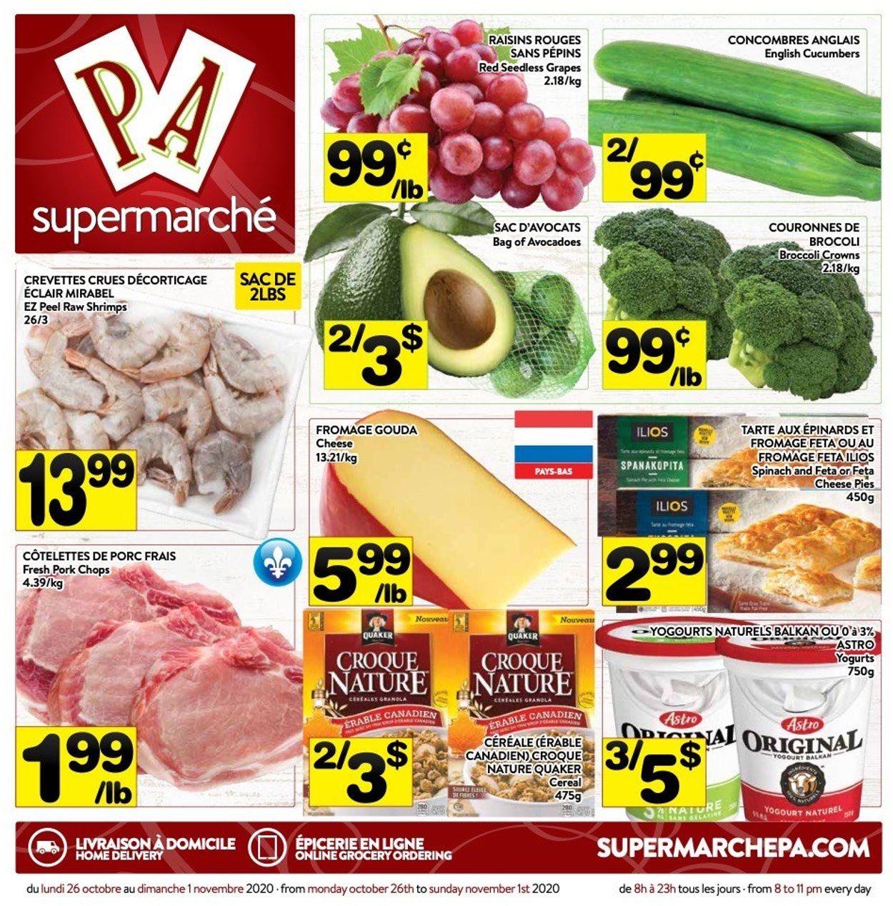 PA Supermarché Flyer - 10/26-11/01/2020