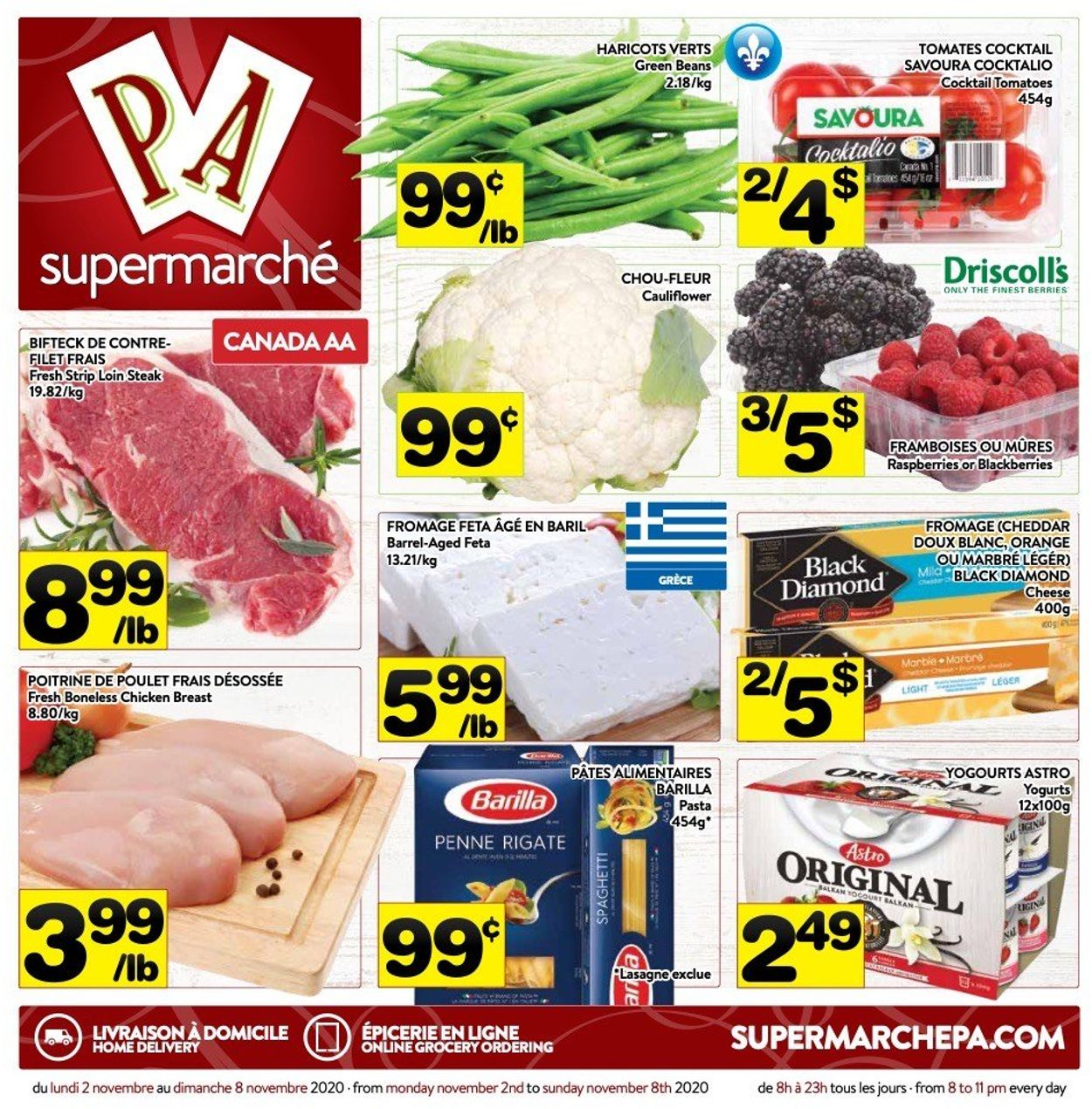 PA Supermarché Flyer - 11/02-11/08/2020