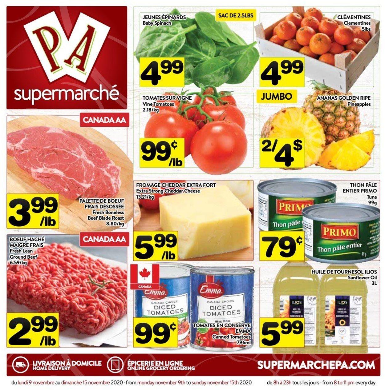 PA Supermarché Flyer - 11/09-11/15/2020