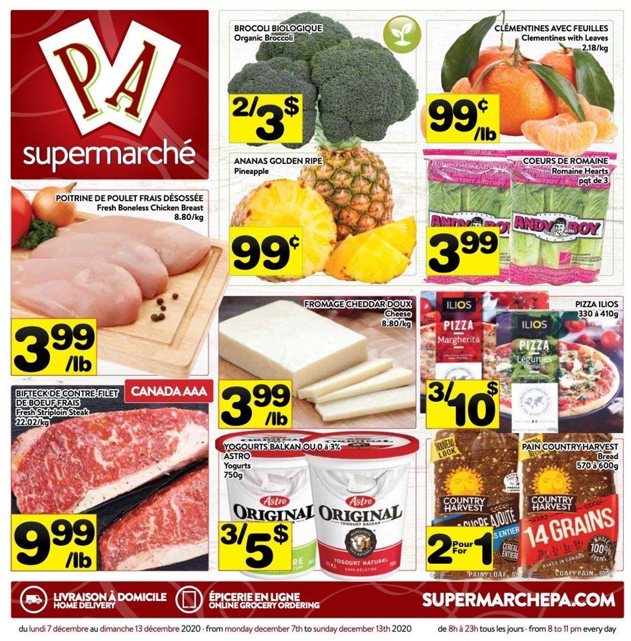 PA Supermarché - Holiday 2020 Flyer - 12/07-12/13/2020