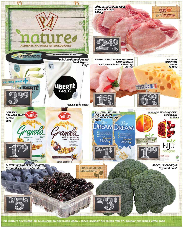 PA Supermarché - Christmas 2020 Flyer - 12/07-12/20/2020