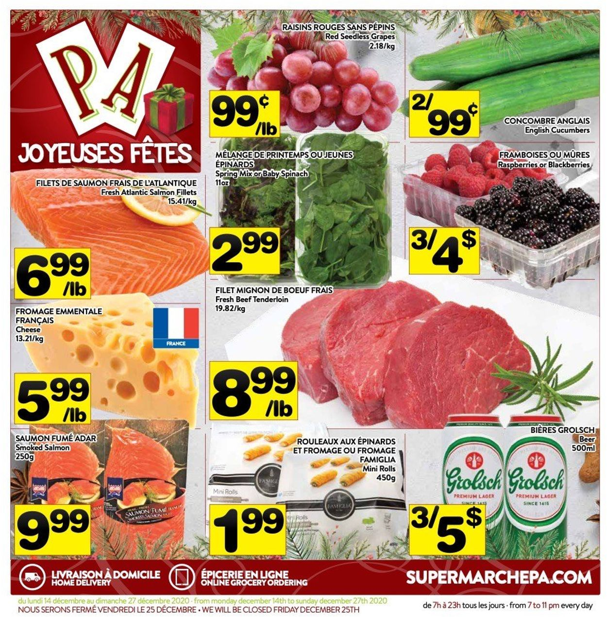 PA Supermarché - Christmas 2020 Flyer - 12/14-12/27/2020