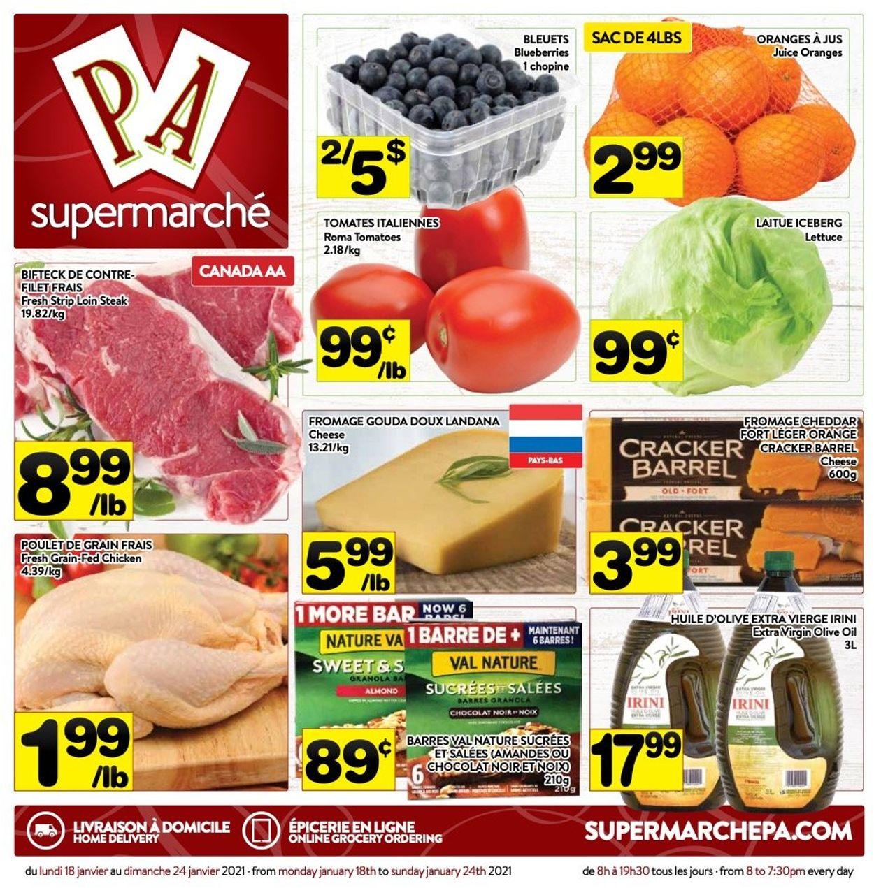 PA Supermarché Flyer - 01/18-01/24/2021