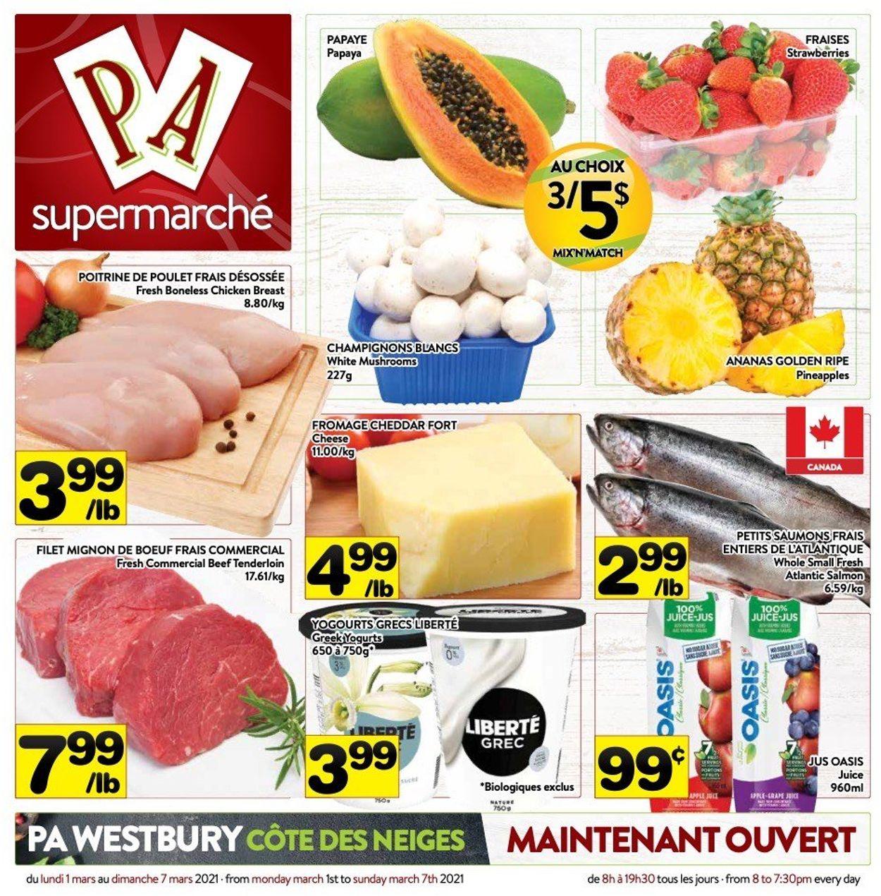 PA Supermarché Flyer - 03/01-03/07/2021