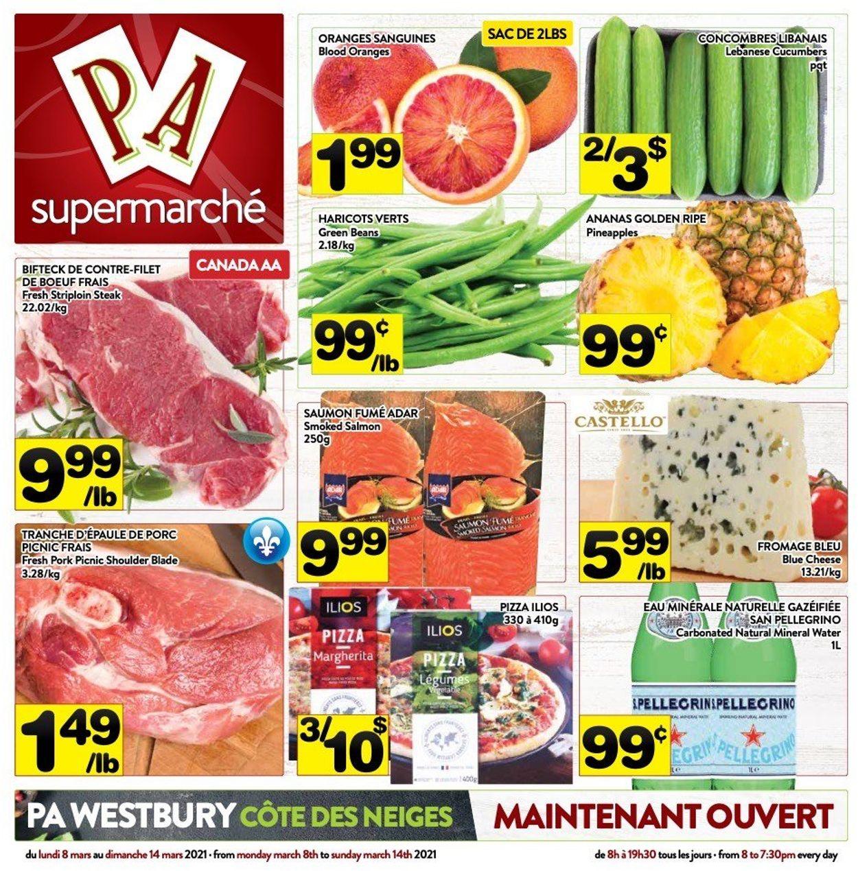 PA Supermarché Flyer - 03/08-03/14/2021