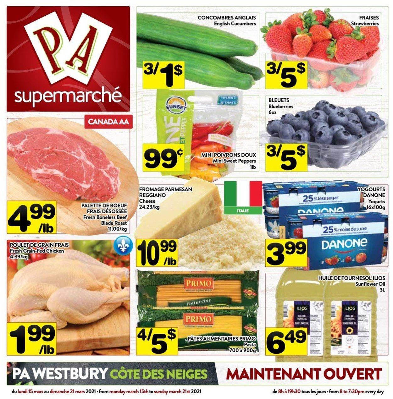 PA Supermarché Flyer - 03/15-03/21/2021
