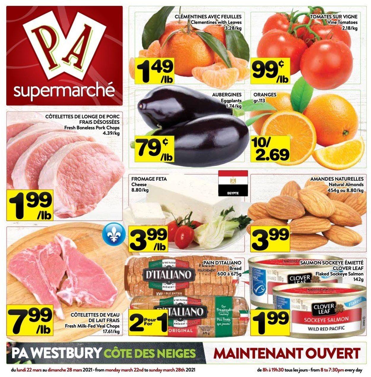 PA Supermarché Flyer - 03/22-03/28/2021