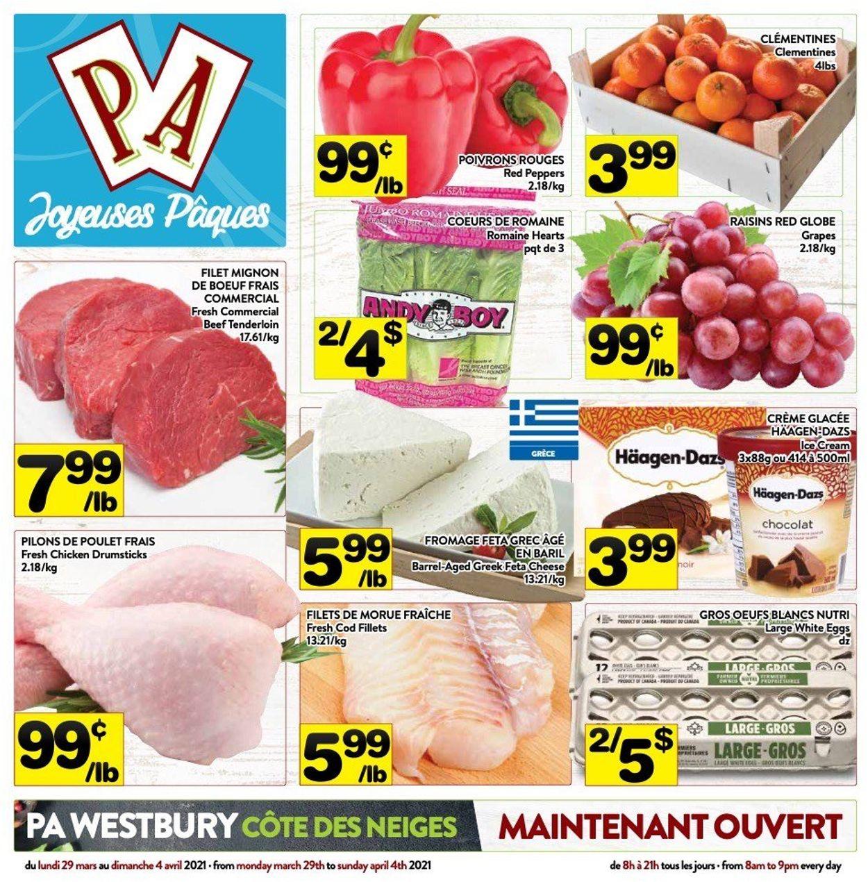 PA Supermarché Flyer - 03/29-04/04/2021