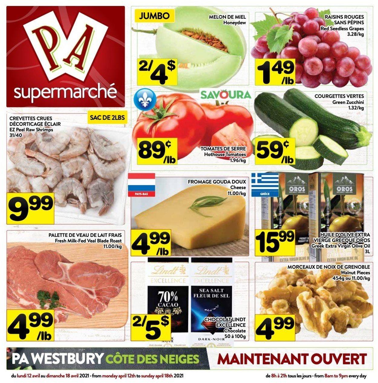 PA Supermarché Flyer - 04/12-04/18/2021