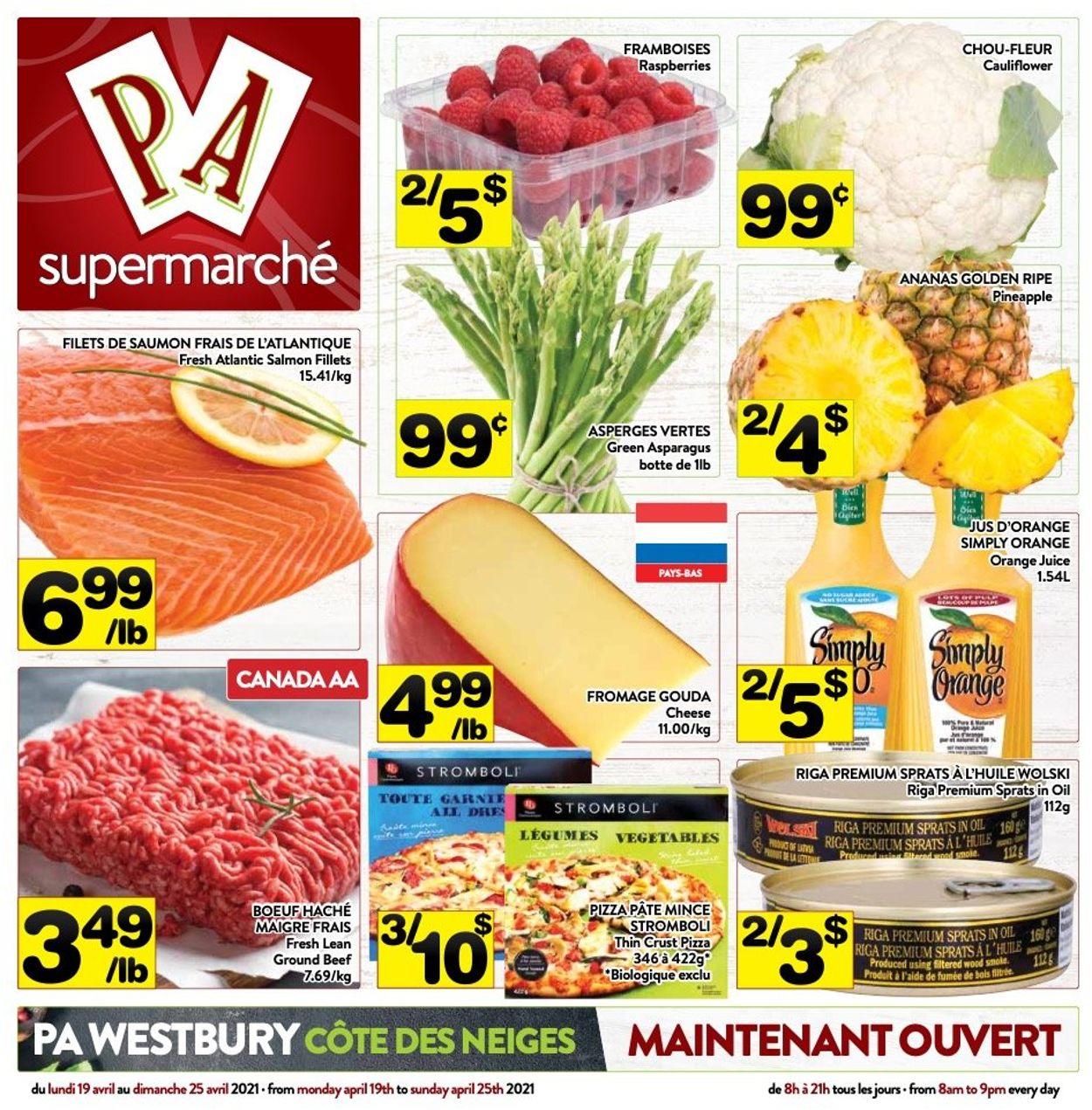 PA Supermarché Flyer - 04/19-04/25/2021