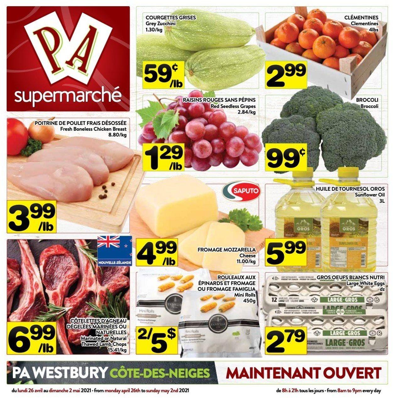 PA Supermarché Flyer - 04/26-05/02/2021
