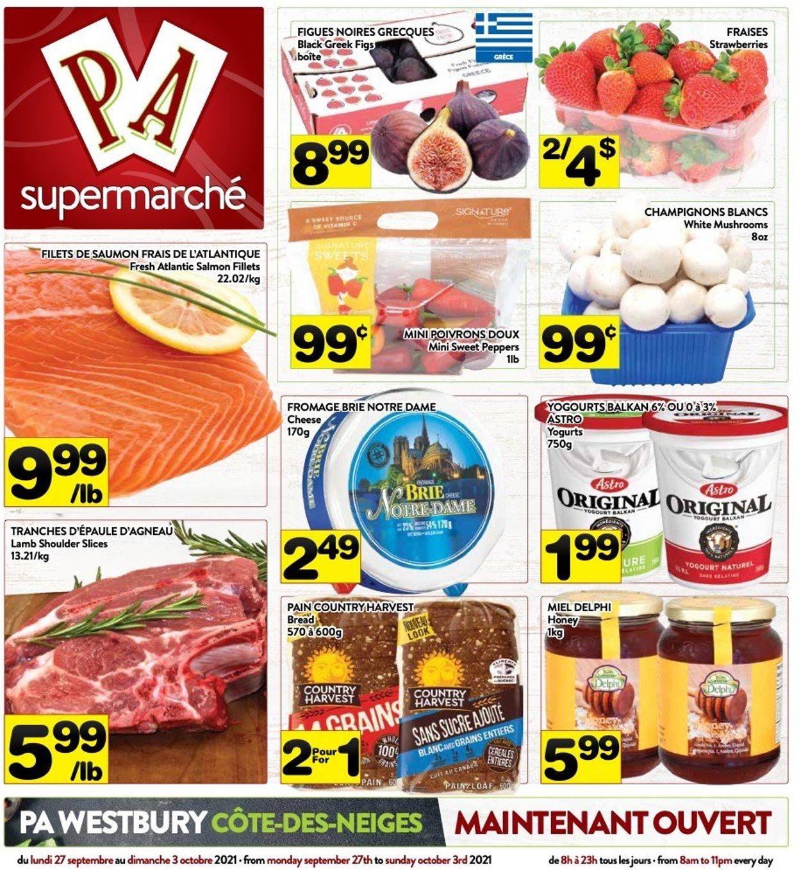 PA Supermarché Flyer - 09/27-10/03/2021