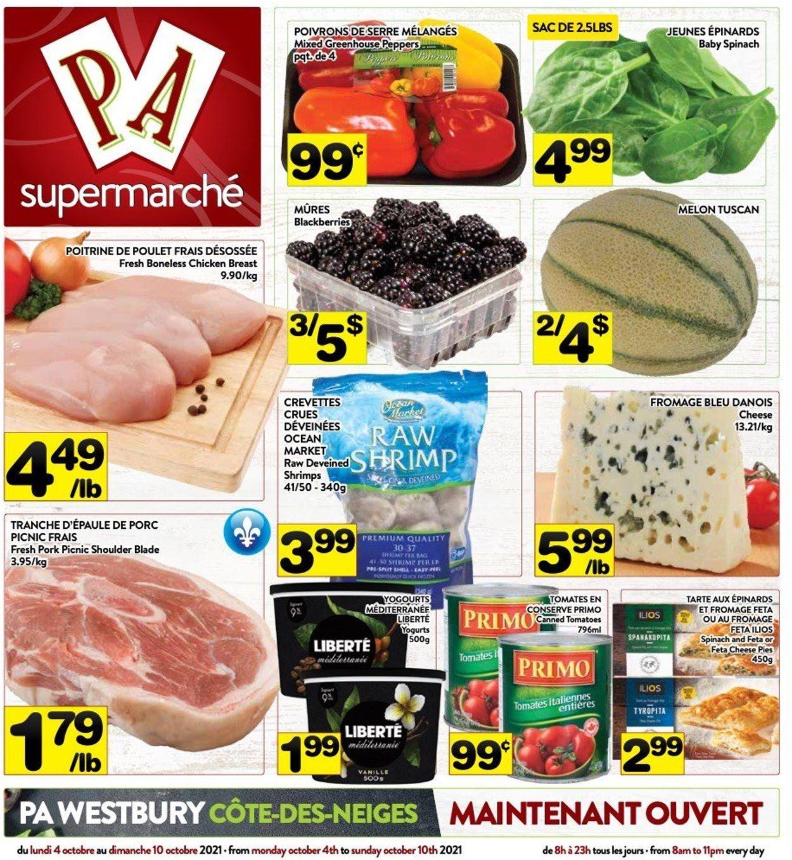 PA Supermarché Flyer - 10/04-10/10/2021