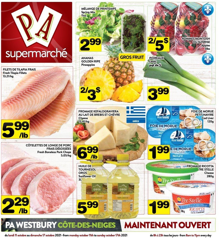 PA Supermarché Flyer - 10/11-10/17/2021