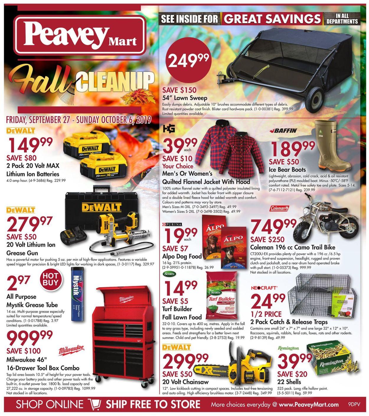 Peavey Mart Flyer - 09/27-10/06/2019