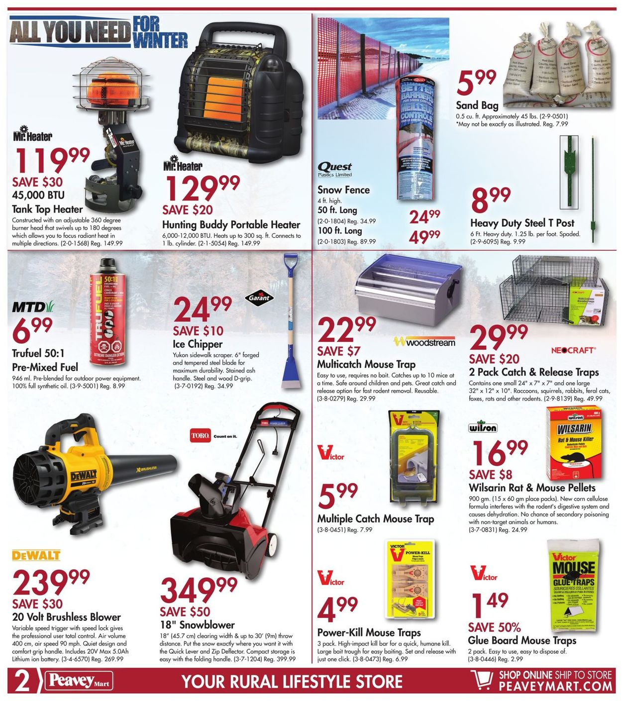 Peavey Mart Flyer - 11/01-11/10/2019 (Page 2)