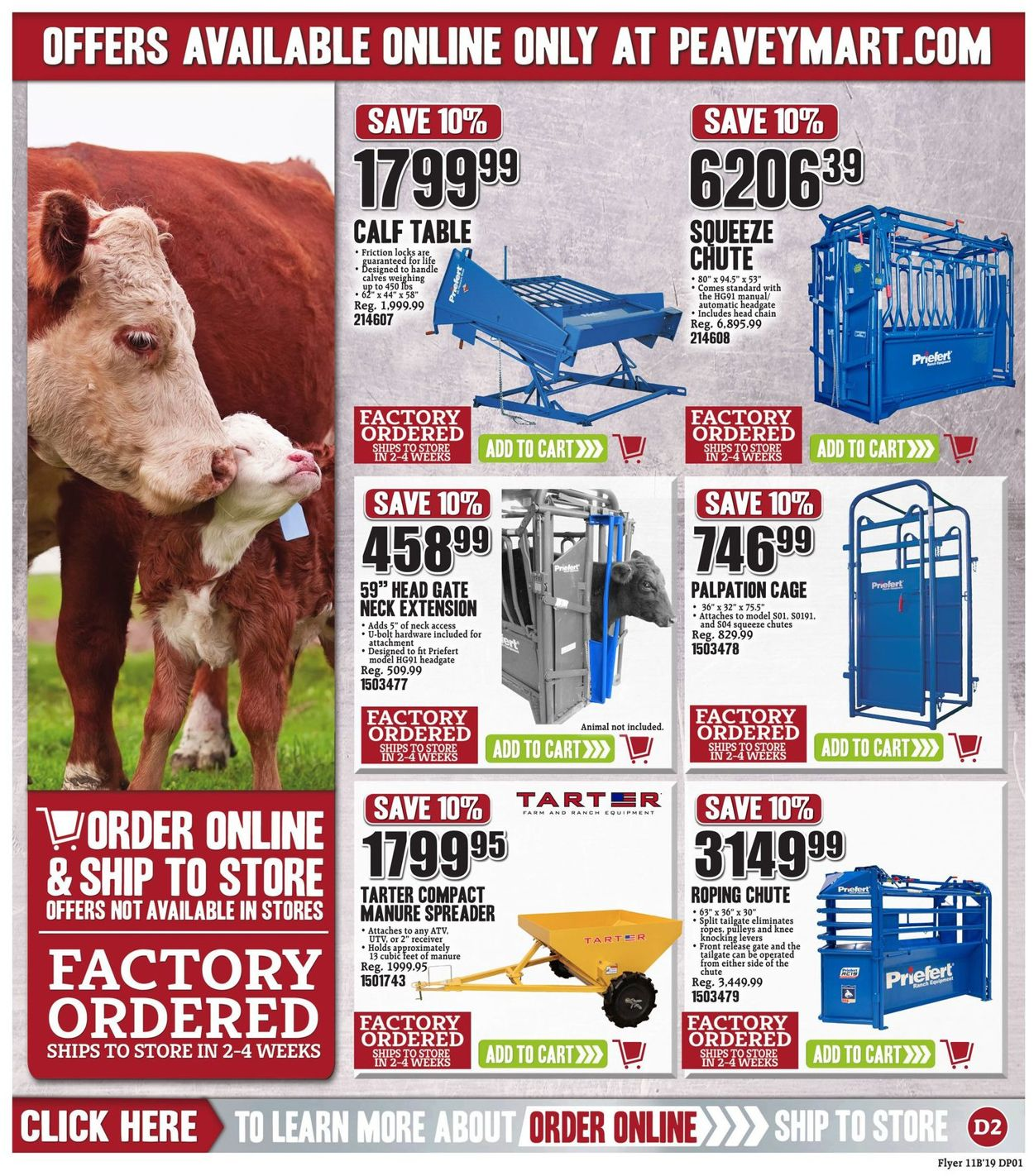 Peavey Mart Flyer - 11/01-11/10/2019 (Page 22)