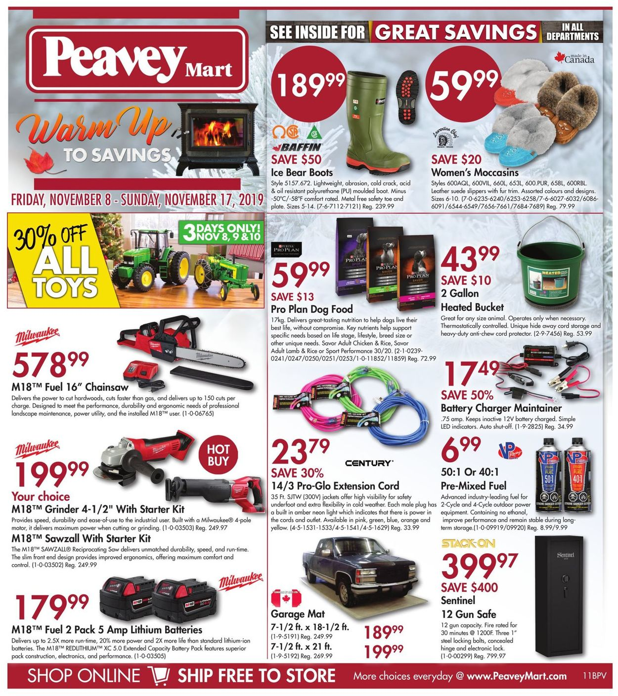 Peavey Mart Flyer - 11/08-11/17/2019