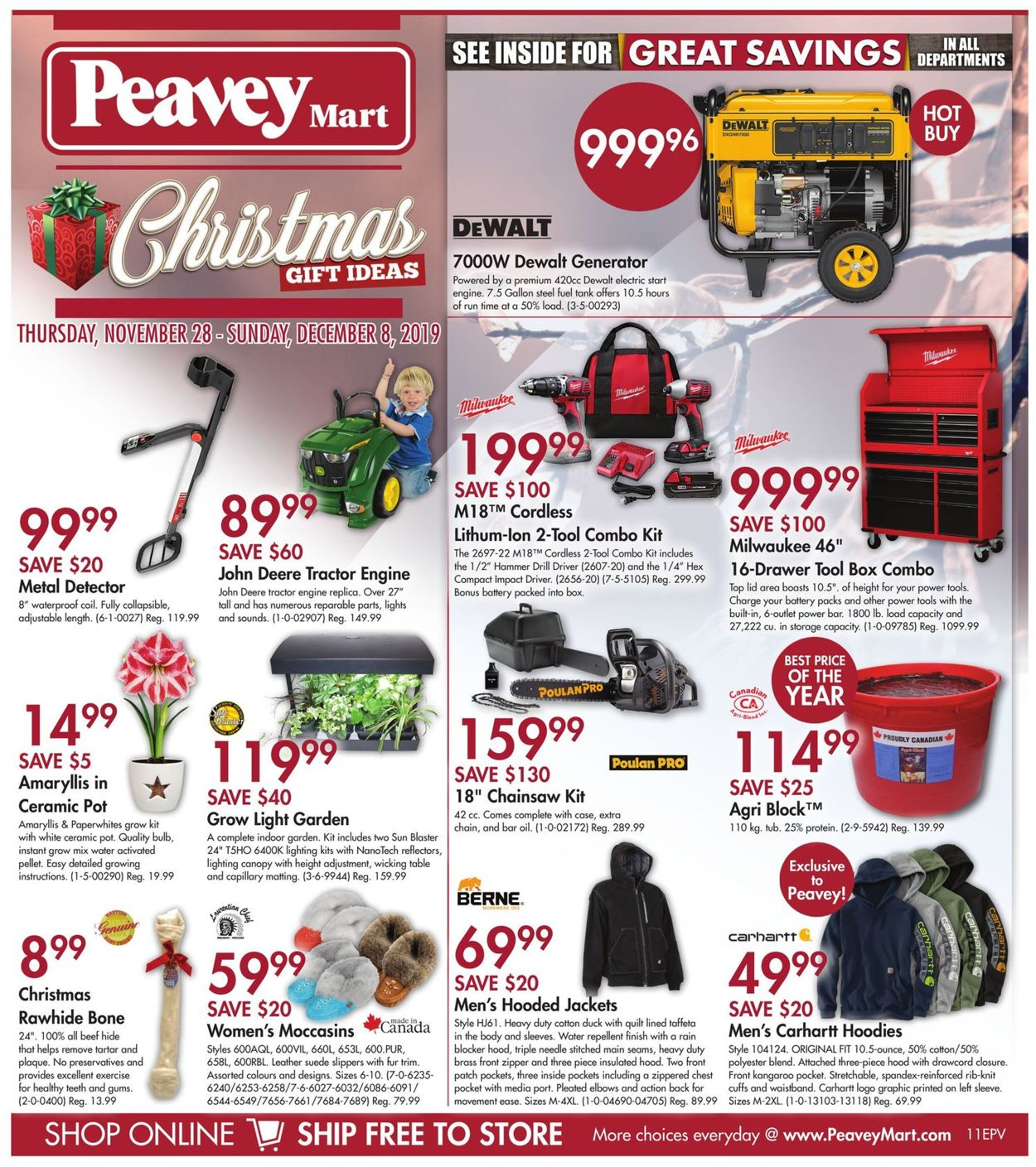 Peavey Mart CHRISTMAS GIFT IDEAS 2019