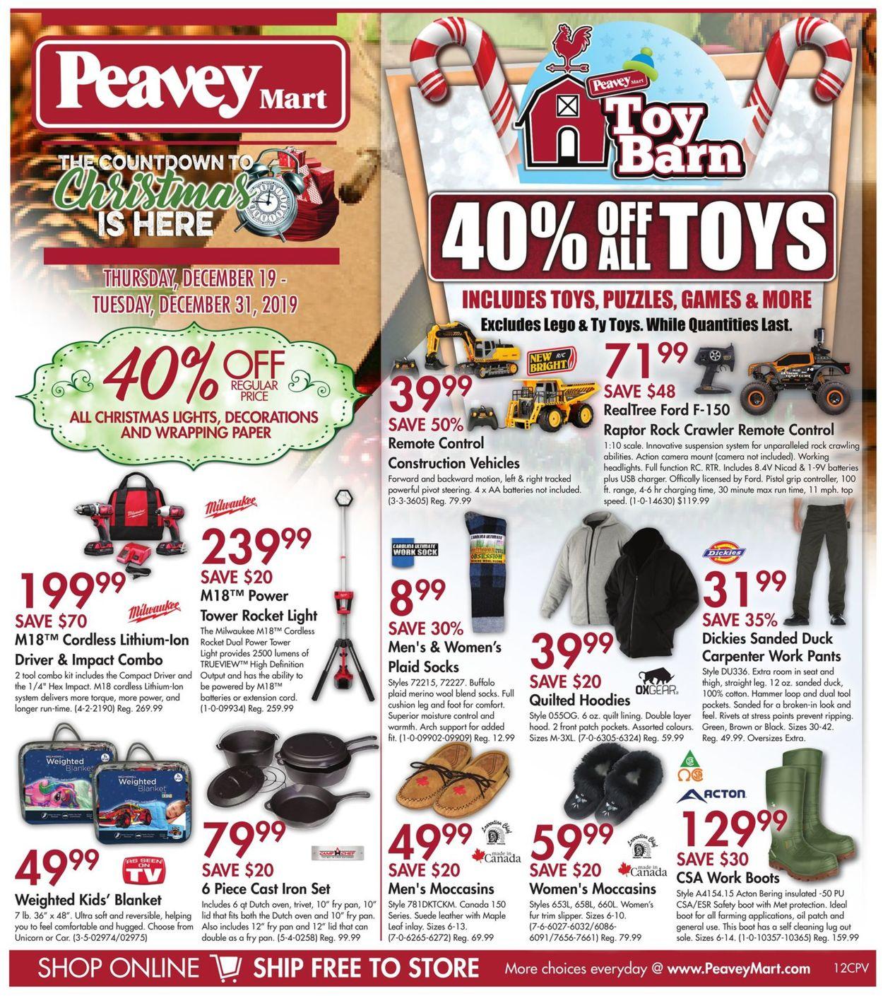 Peavey Mart Christmas Flyer 2019