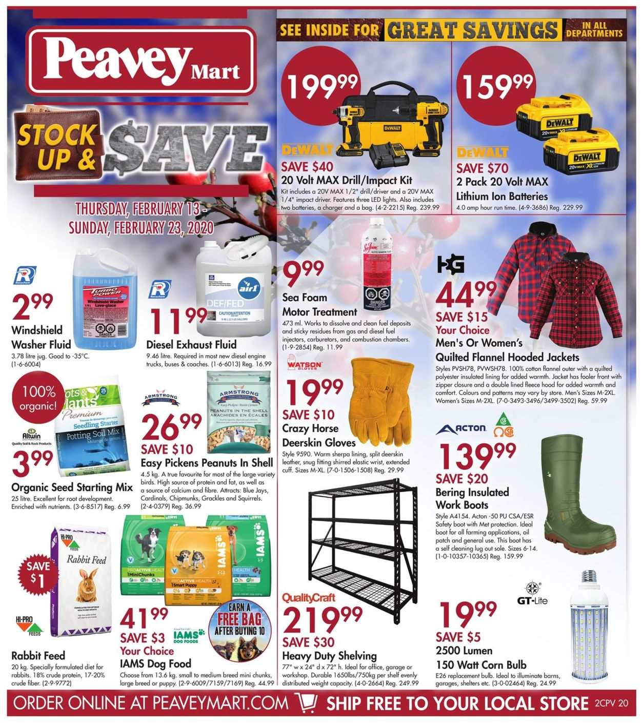 Peavey Mart Flyer - 02/13-02/23/2020