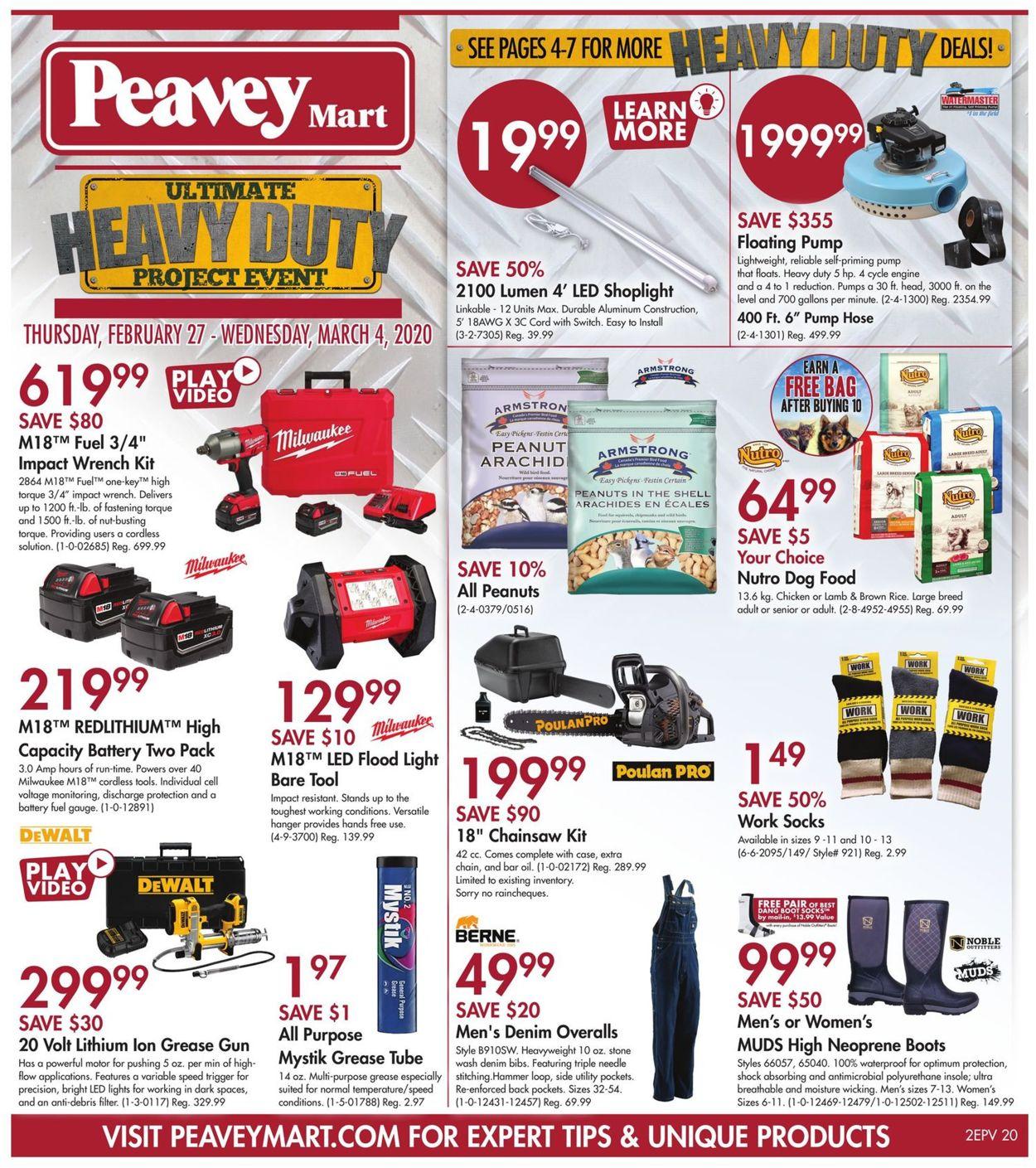 Peavey Mart Flyer - 02/27-03/04/2020