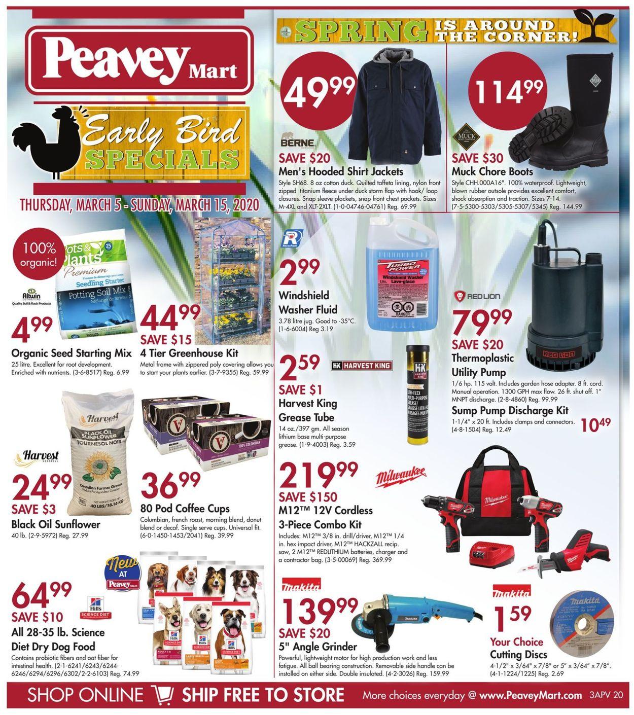 Peavey Mart Flyer - 03/05-03/15/2020