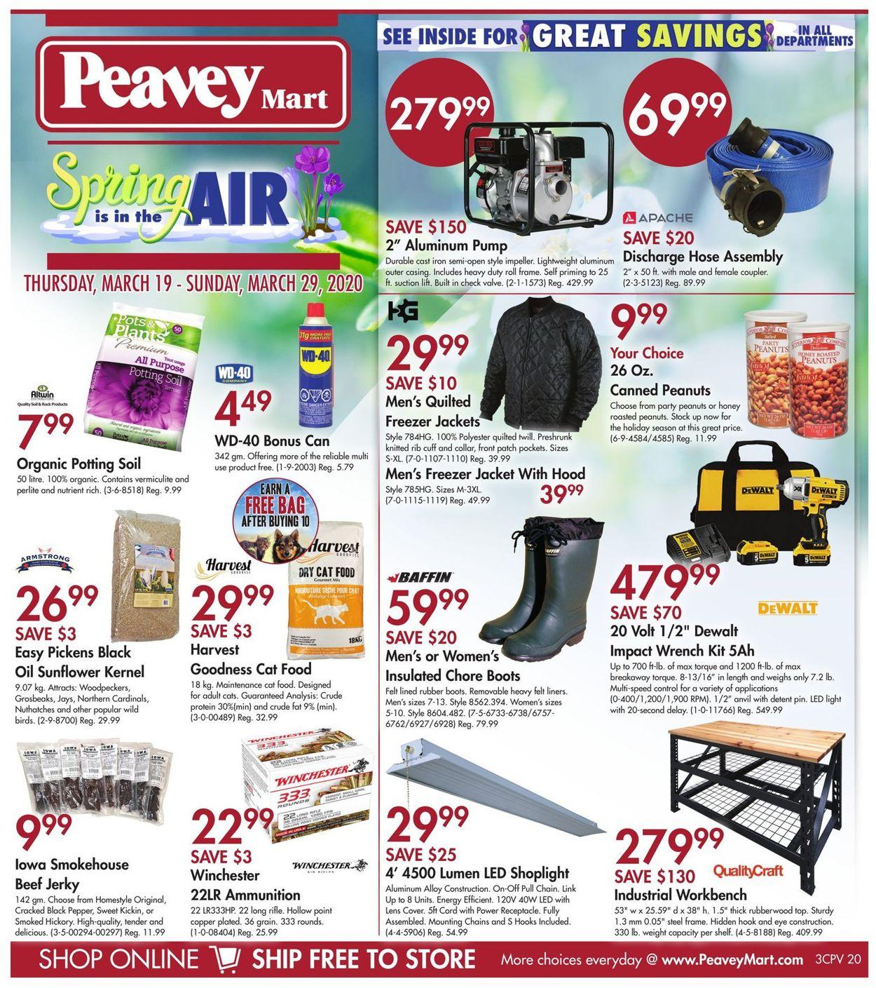 Peavey Mart Flyer - 03/19-03/29/2020