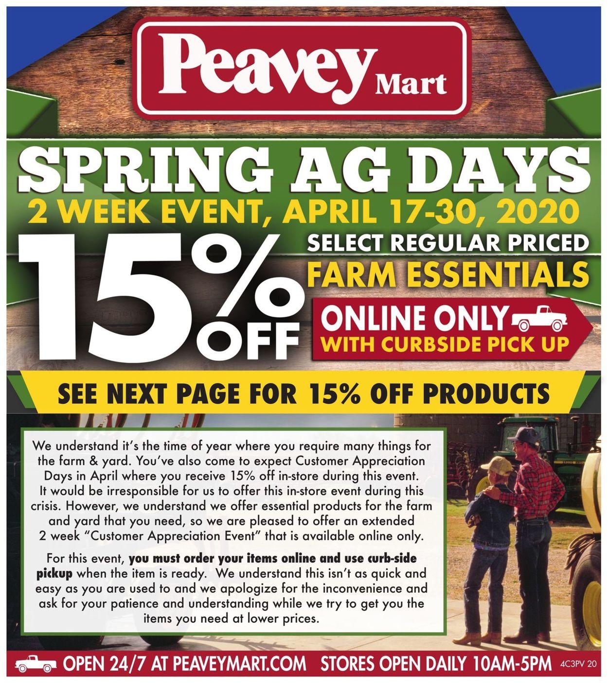 Peavey Mart Flyer - 04/17-04/30/2020