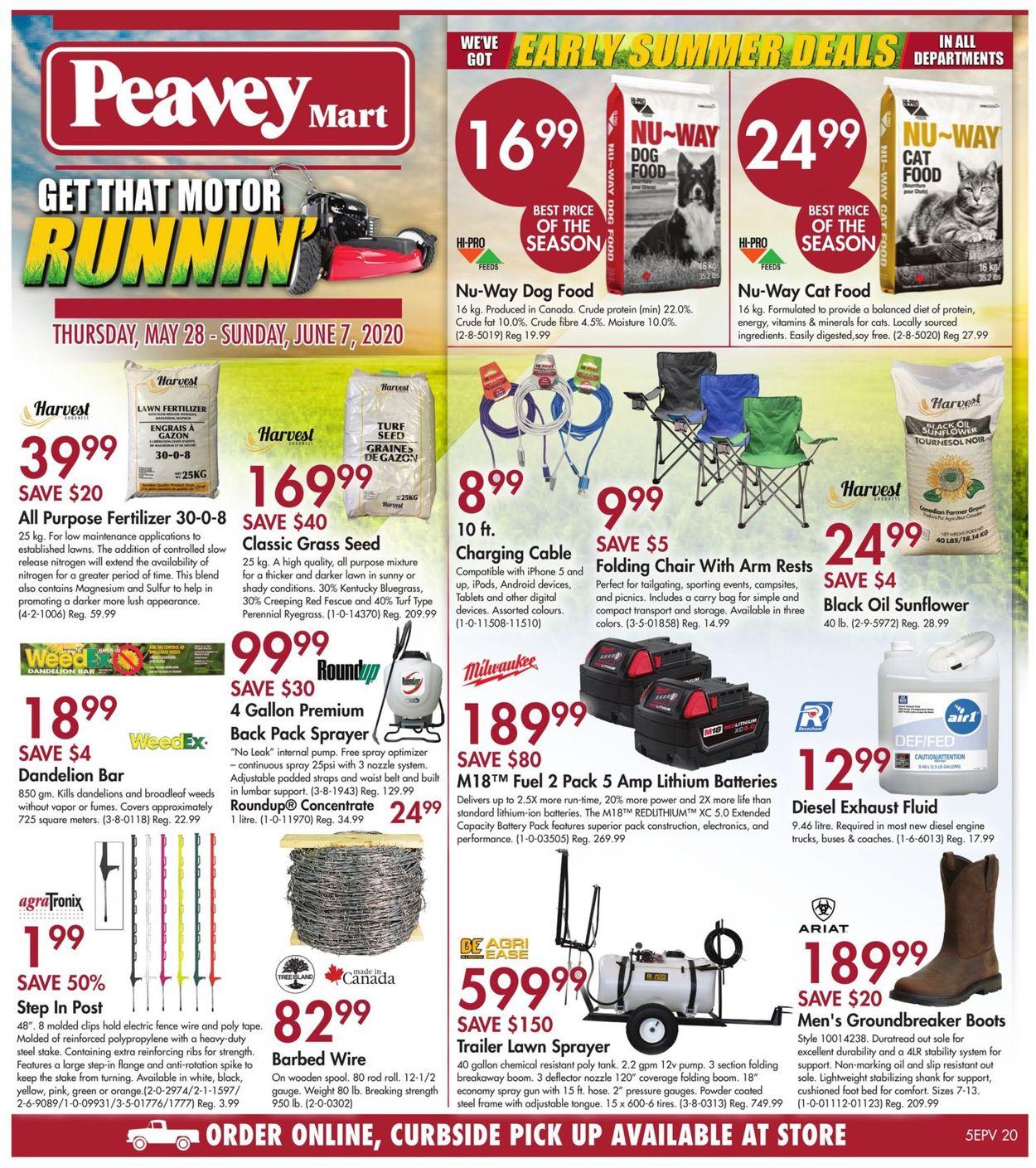 Peavey Mart Flyer - 05/28-06/07/2020