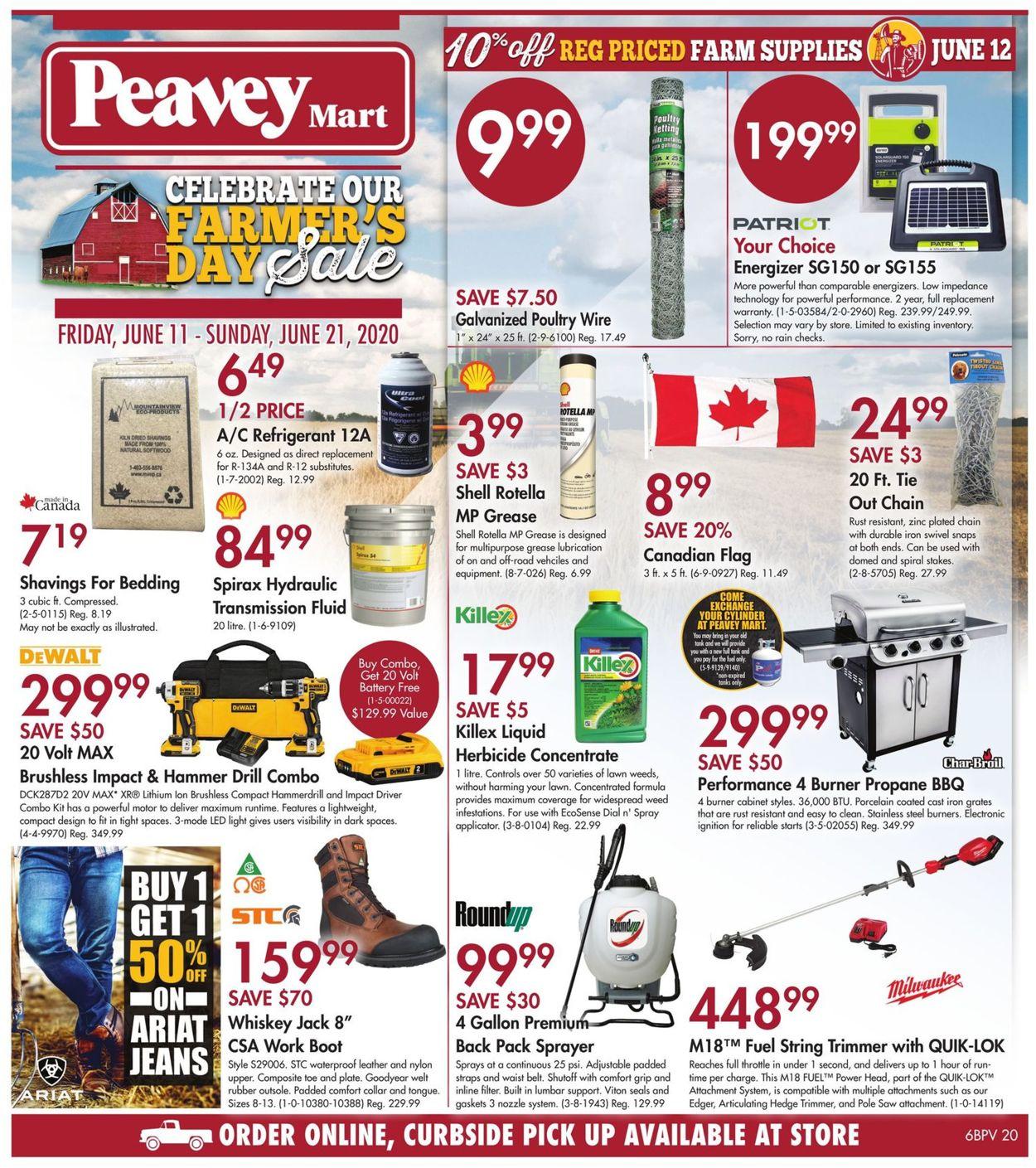 Peavey Mart Flyer - 06/11-06/21/2020