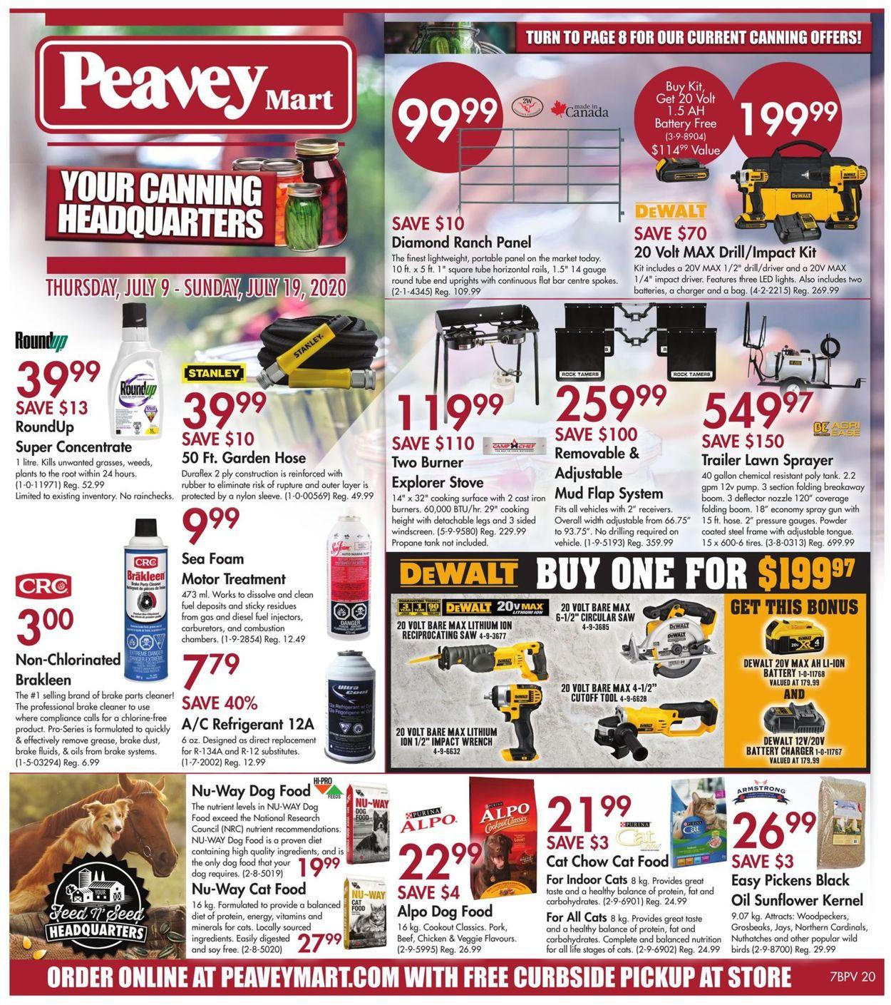 Peavey Mart Flyer - 07/09-07/19/2020