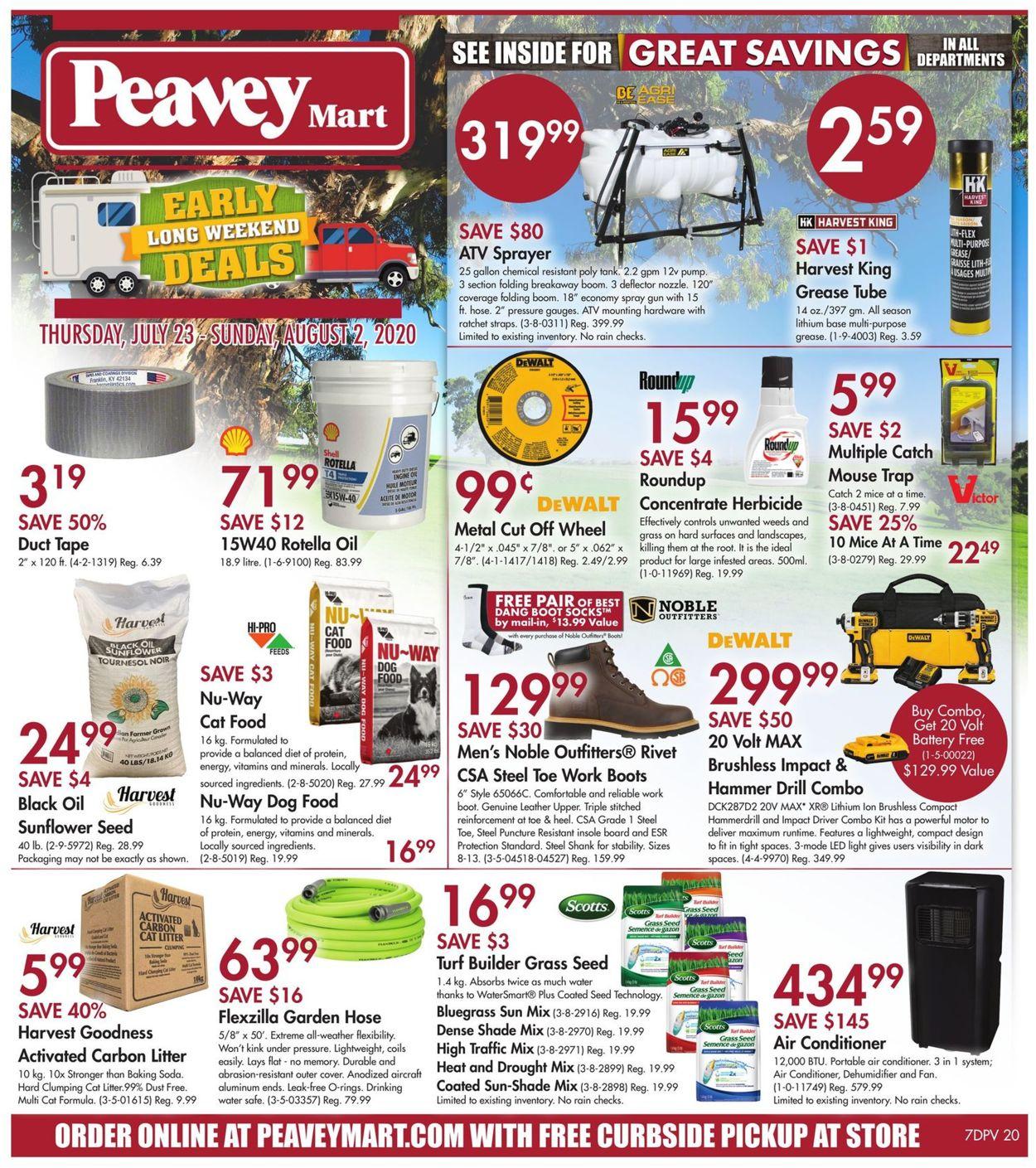 Peavey Mart Flyer - 07/23-08/02/2020