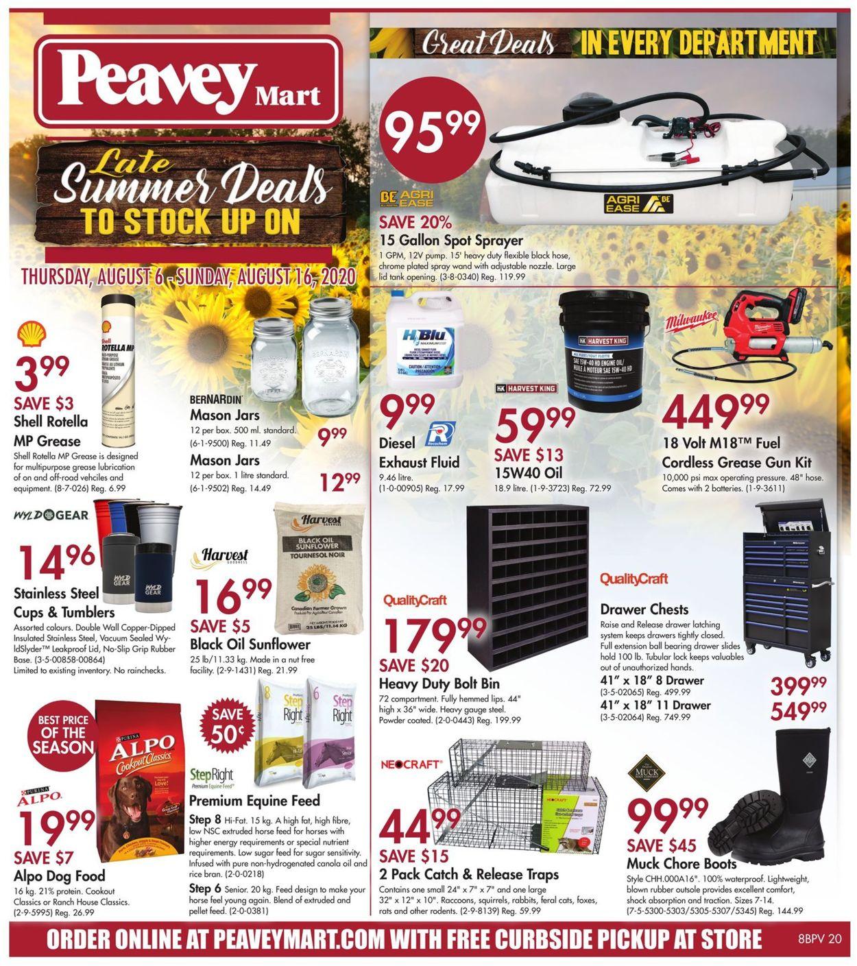 Peavey Mart Flyer - 08/06-08/16/2020