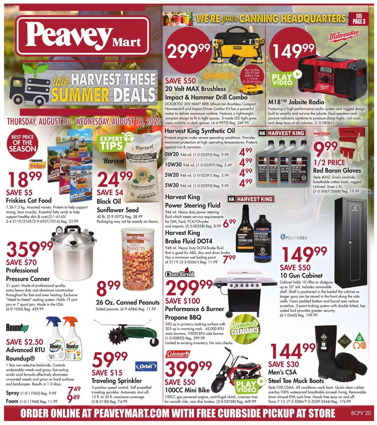 Peavey Mart Flyer - 08/13-08/19/2020