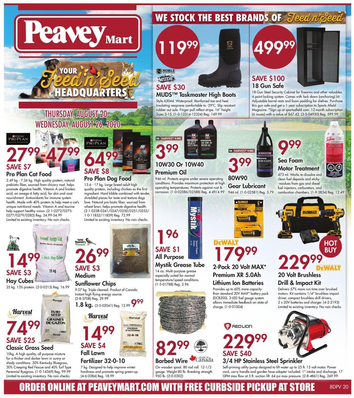 Peavey Mart Flyer - 08/20-08/26/2020