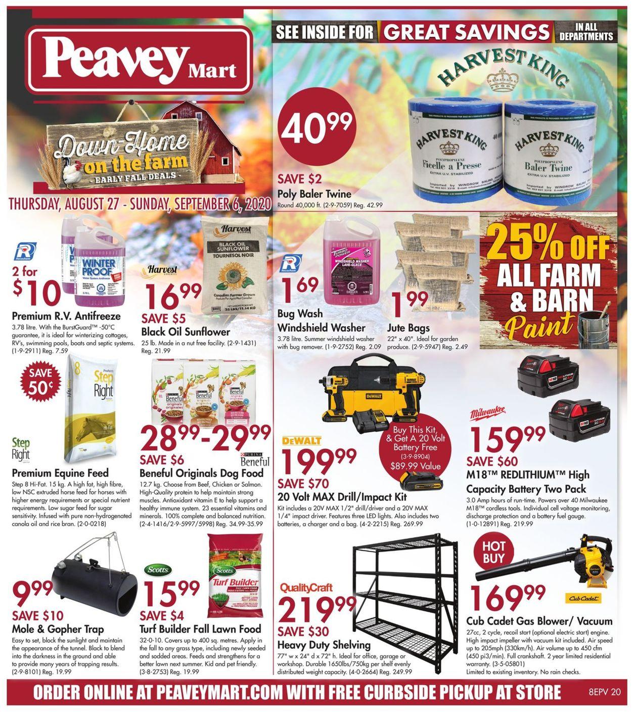Peavey Mart Flyer - 08/27-09/06/2020