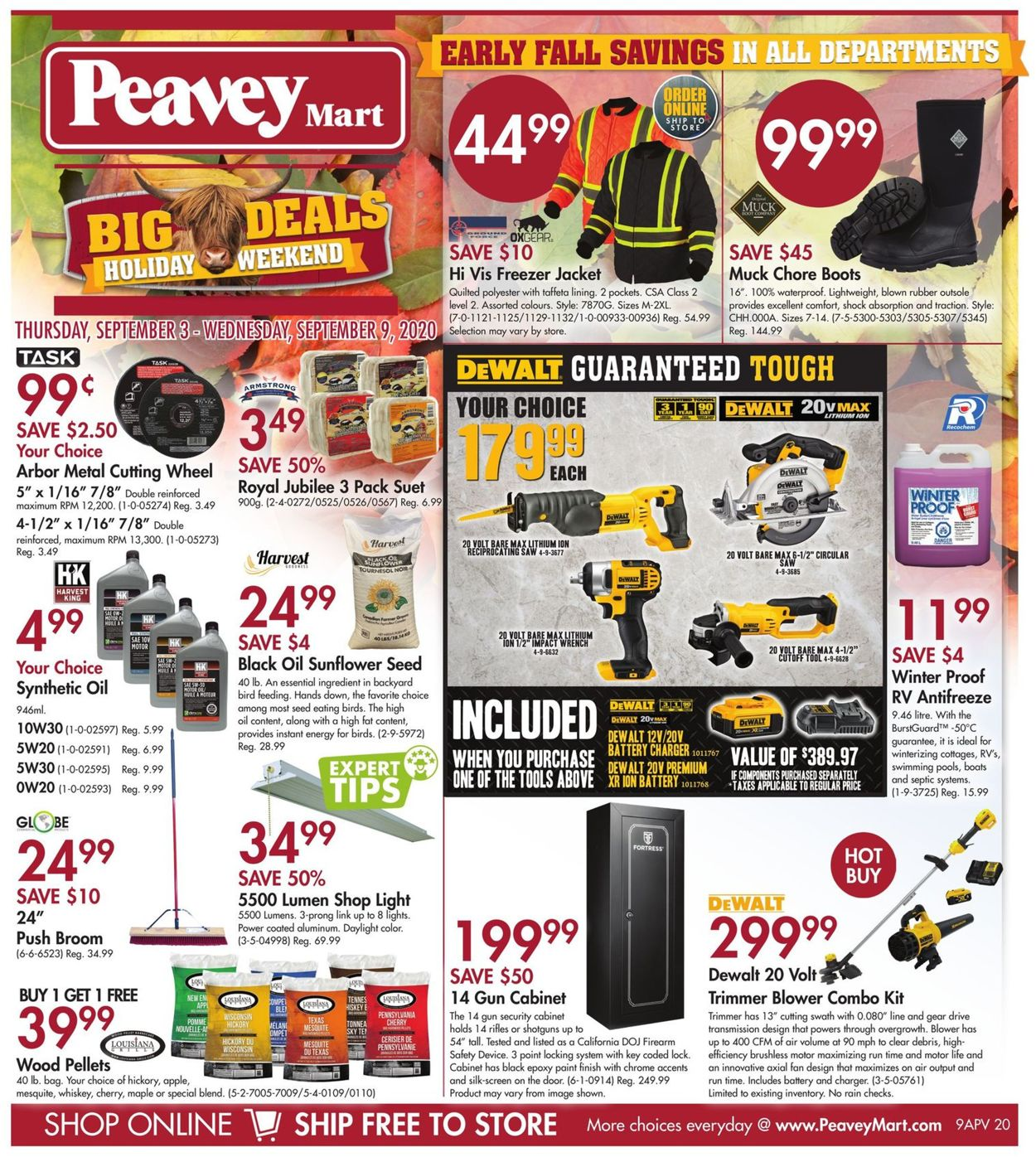 Peavey Mart Flyer - 09/03-09/09/2020
