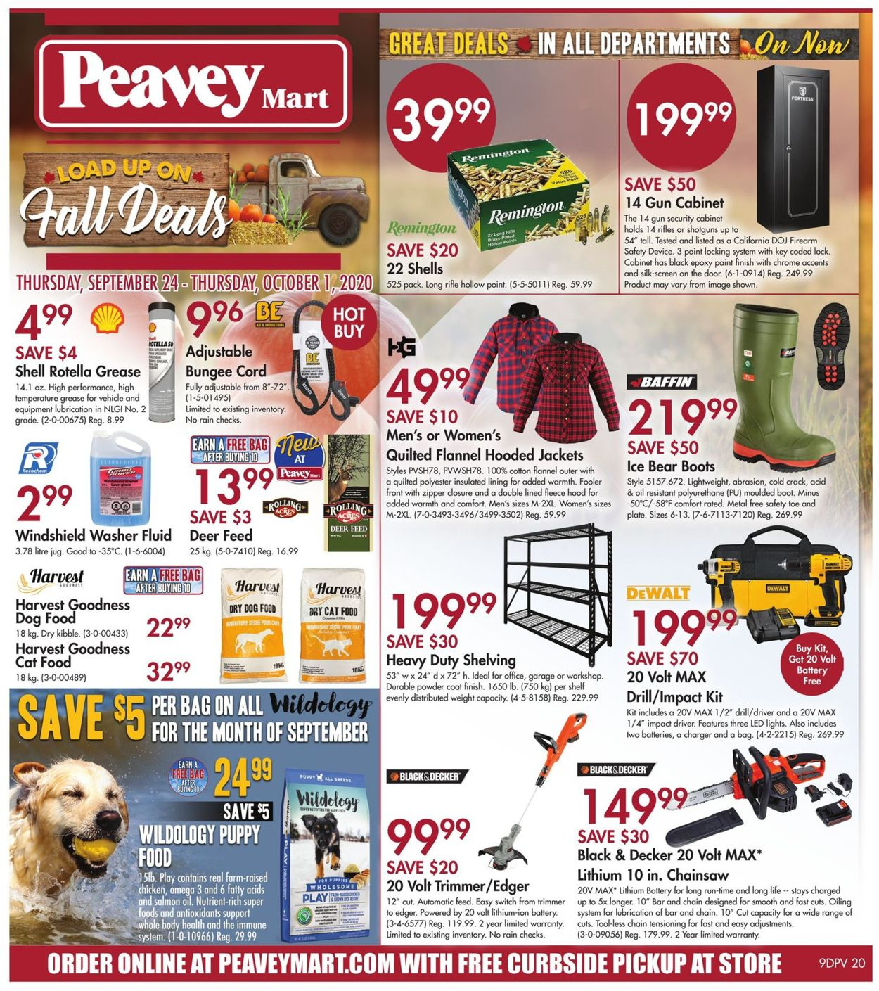 Peavey Mart Flyer - 09/24-10/01/2020