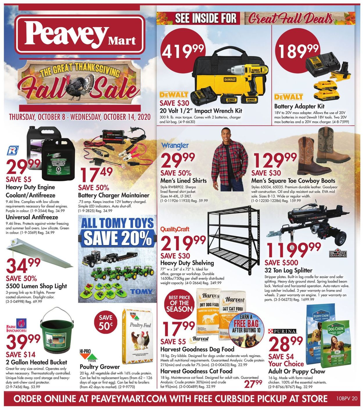 Peavey Mart Flyer - 10/08-10/14/2020