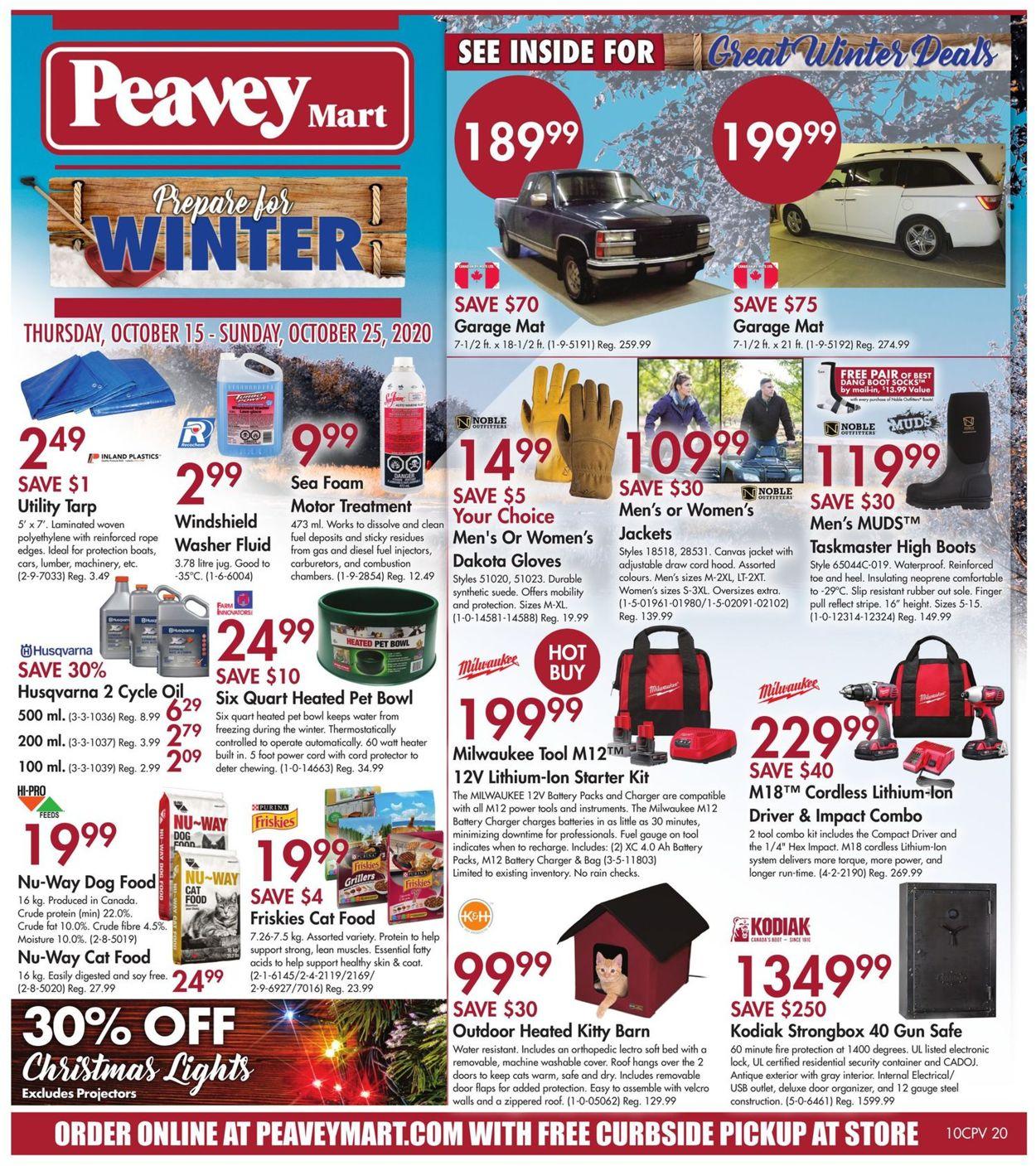 Peavey Mart Flyer - 10/15-10/25/2020