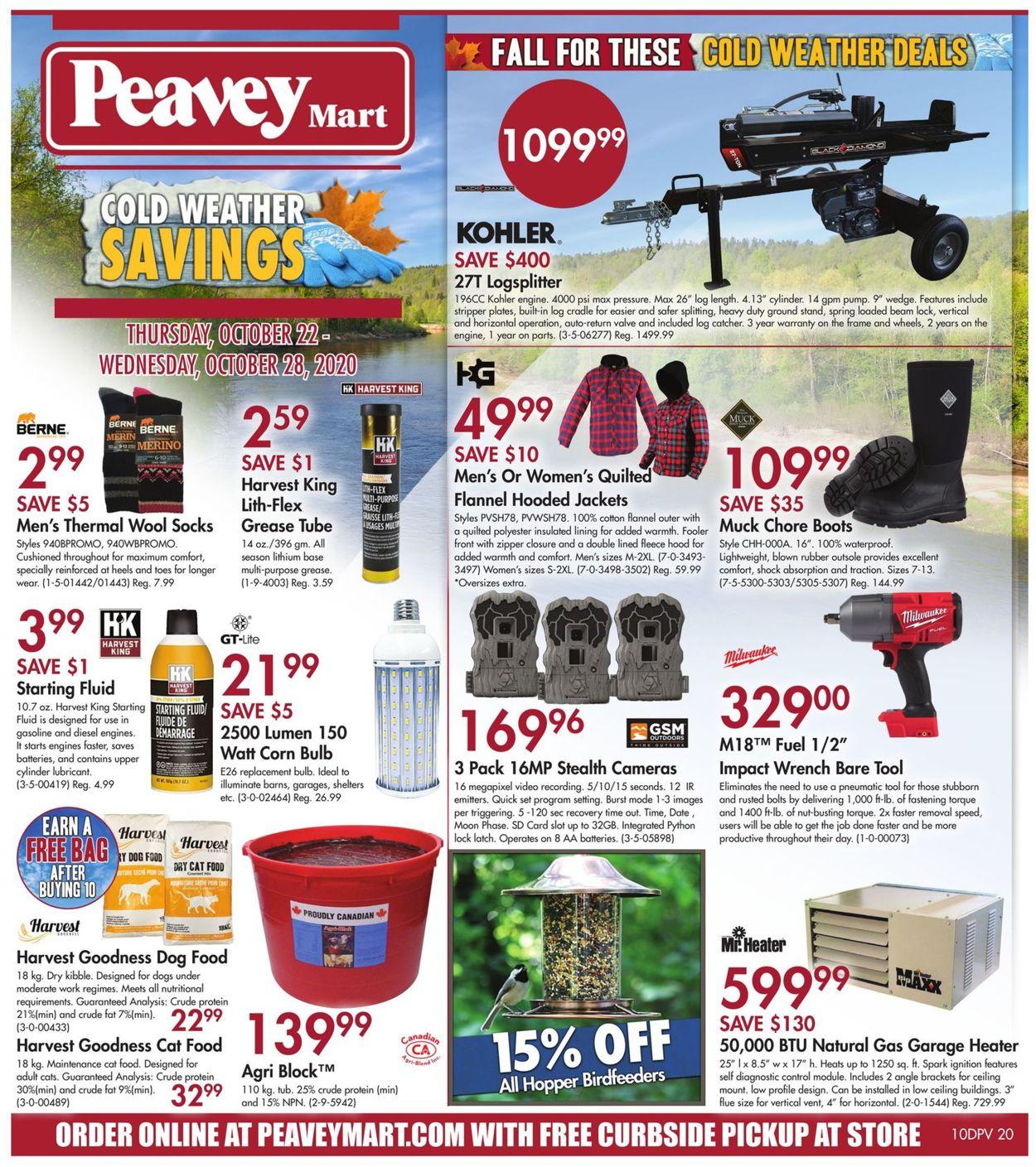 Peavey Mart Flyer - 10/22-10/28/2020