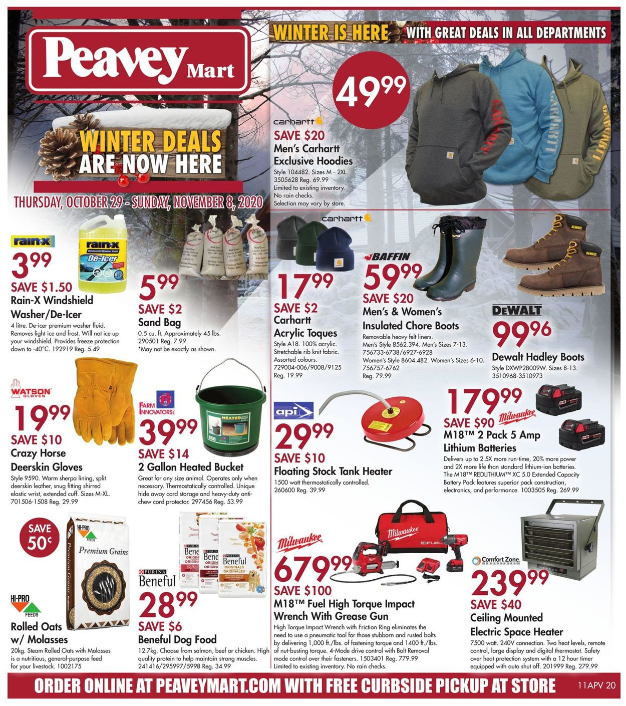 Peavey Mart Flyer - 10/29-11/08/2020