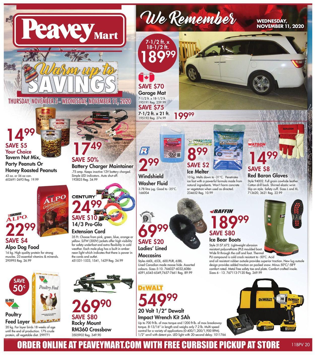 Peavey Mart - Christmas 2020 Flyer - 11/05-11/11/2020